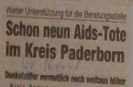 Zeitung: Schon 9 Aids-Tote