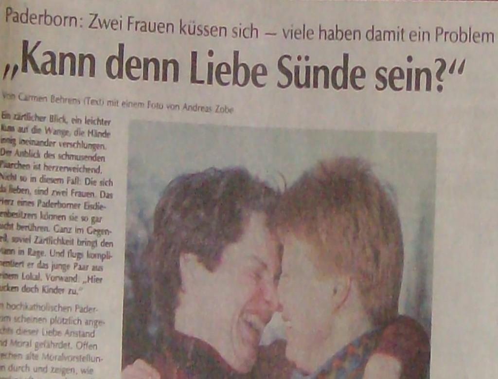 Zeitung: Kann denn Liebe Sünde sein