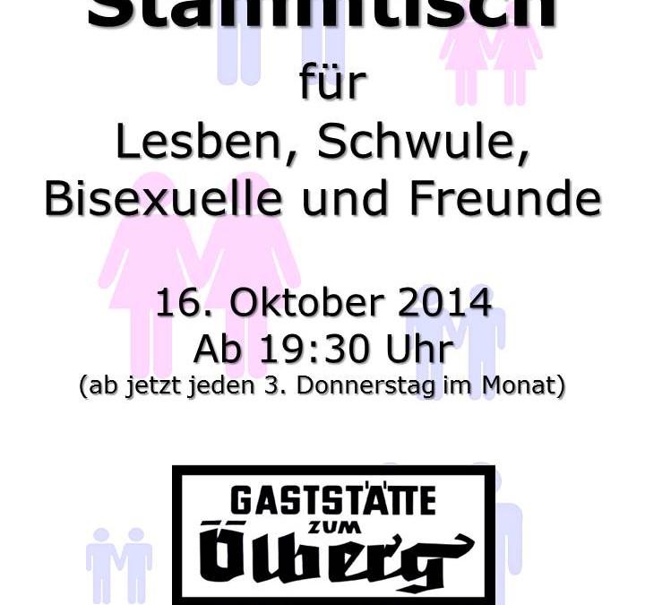 Neuer Stammtisch für Schwule, Lesben, Bisexuelle und Freund_innen