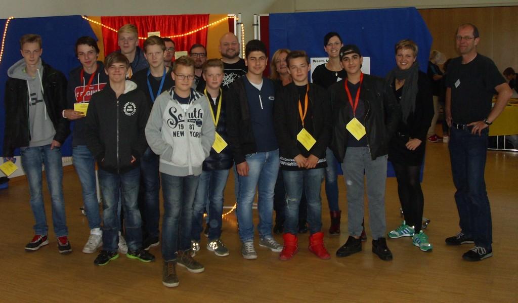 Teilnehmende und Team des Mitmachparcours in Westenholz