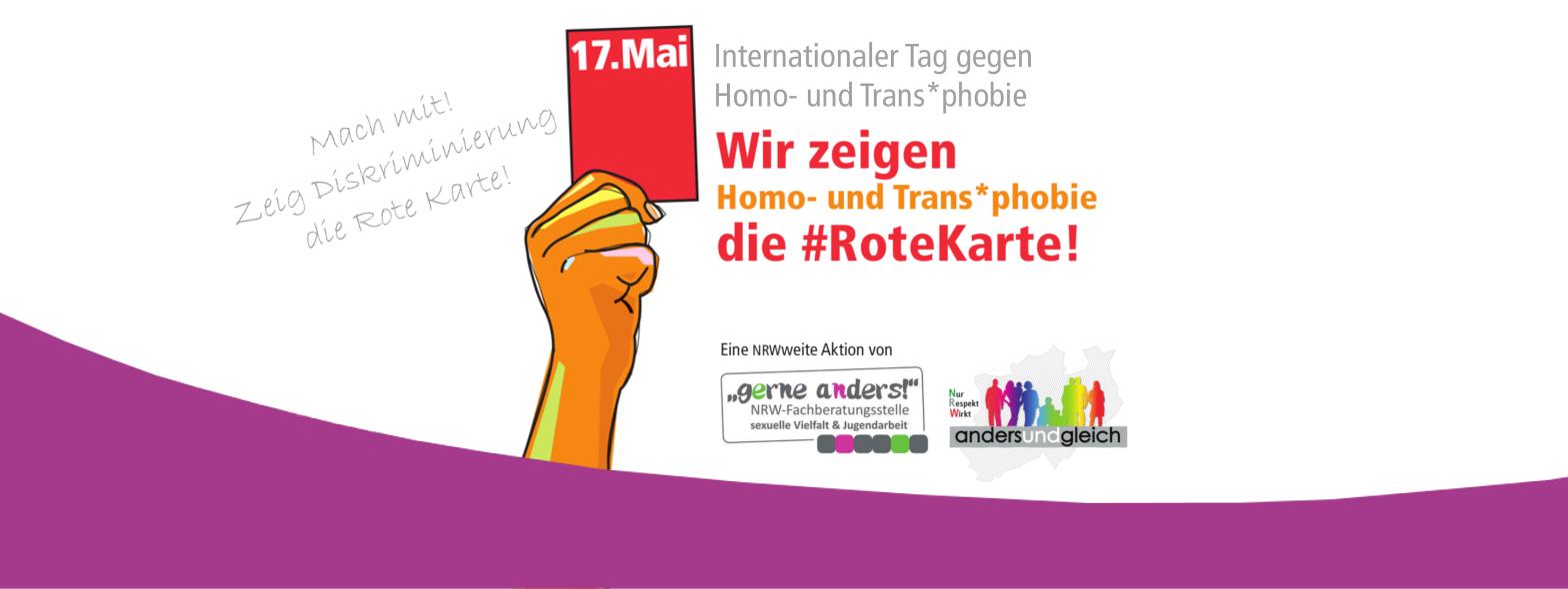 Die Rote Karte am IDAHOT zeigen